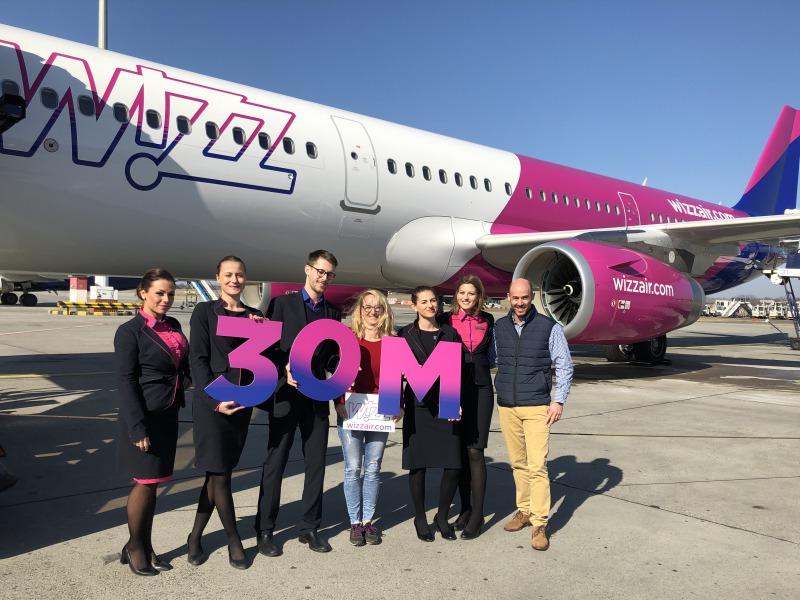 3ed10d7b81c4 Újabb Wizz Air-mérföldkő: 30 millió utas a magyarországi járatokon