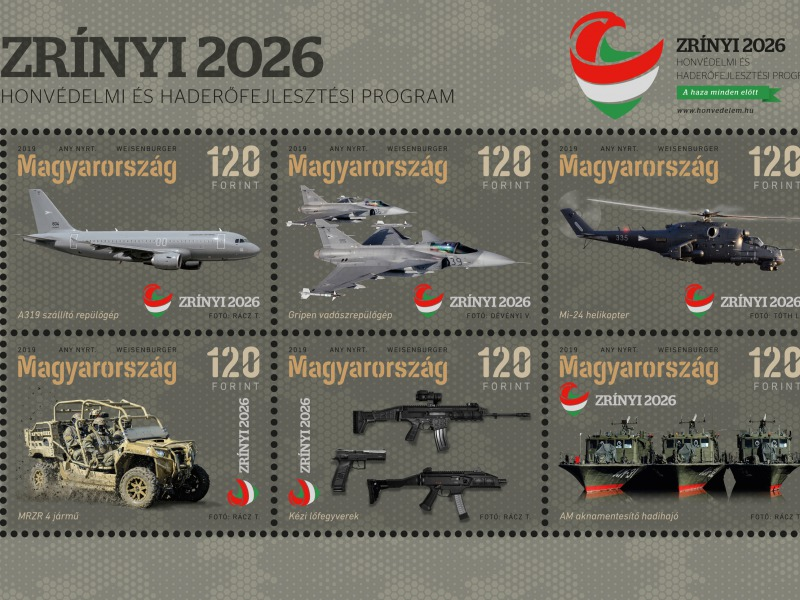 f018b1c8bc2f Az új haditechnikai eszközök már bélyegblokkon is láthatók